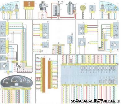 Принципиальная электрическая схема ваз 21083 fsb-rossiiruagnostдиагностика двигателя, чип-тюнинг автомобилей и